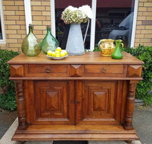 Antique Henri II oak buffet
