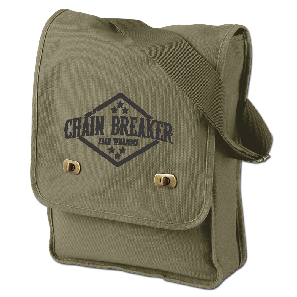 Green Logo Messenger Bag