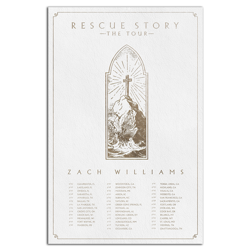 11X17 Rescue Story Tour Poster