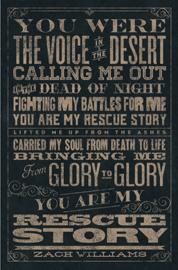 Rescue Story 11X17 Lyric Art Print