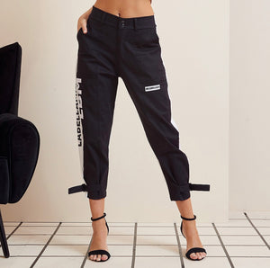 JOGGER BLACK AND WHITE