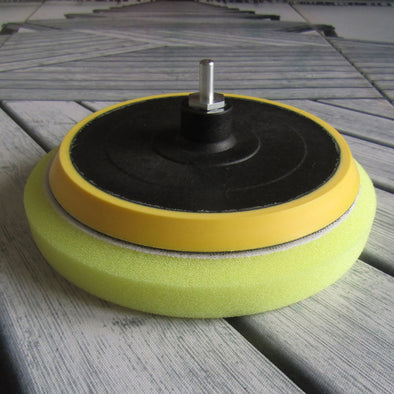 175mm Quality Vibration Drill Backing Plate & 200mm Drill Polishing Pad. Drill Adaptor included.