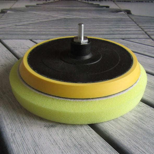 175mm Quality Vibration Drill Backing Plate. Polishing Pad not included. Drill Adaptor included.