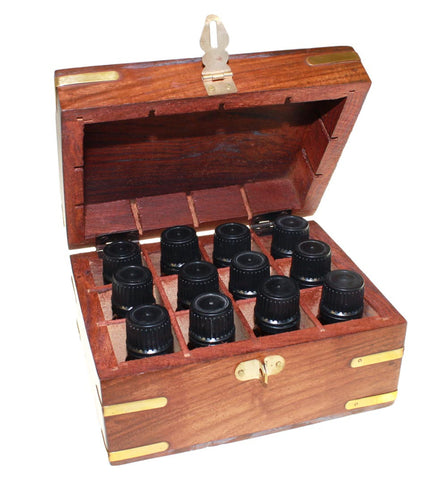 Essential Oils in Wooden Box