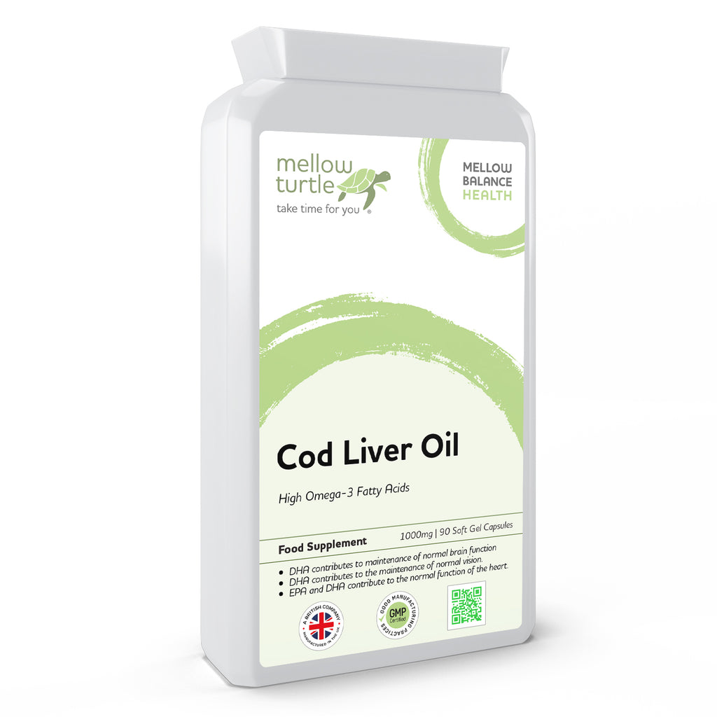 Cod Liver Oil 1000mg 90 Soft Gel Capsules
