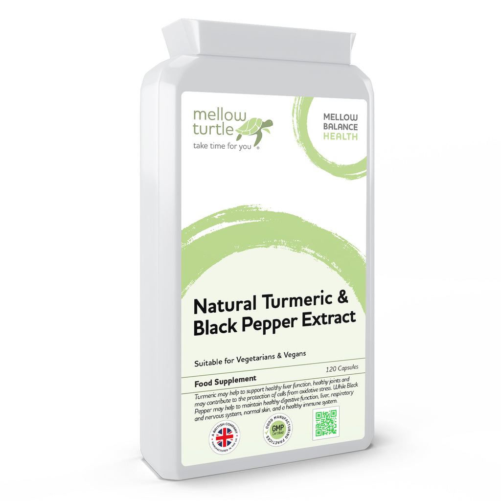 Natural Turmeric & Black Pepper Extract 120 Capsules