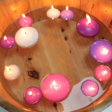 20 x Small Floating Candles - Ivory
