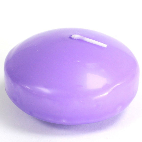 6 x Large Floating Candles - Lilac
