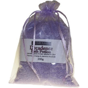 Decadence Potion - Patchouli, Orange & Jasmine Absolute - Aromatherapy Bath Salts - 200gr