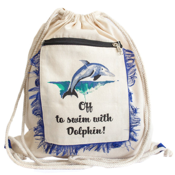 Funky Fringe Backpack - Dolphin