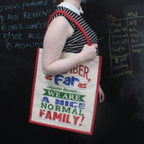 Jute Shopping Bag - A Nice Normal Family