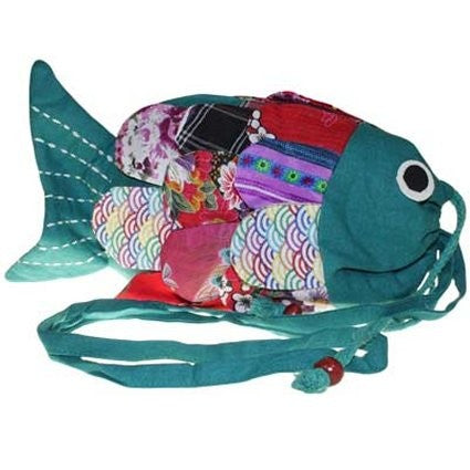 Recycled Handmade Fish Bags - Green