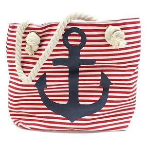 Rope Handle Bag - Blue Anchor