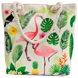 Rope Handle Bag - Flamingo & More