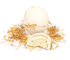 Sicilian Lemon & Calendula Handmade Bath Bomb - Set of 12