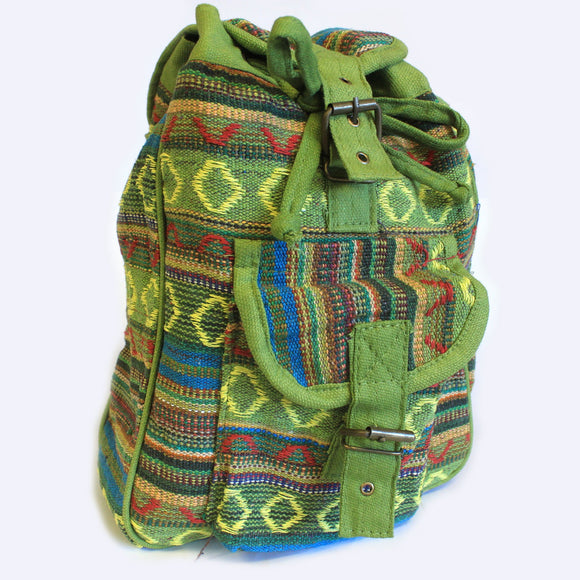 Small Nepali Backpacks - Green