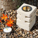 Stone Oil Burner - Abstract Cuts