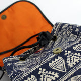 Traveller Backpacks - 3 Pocket Blue Elephant