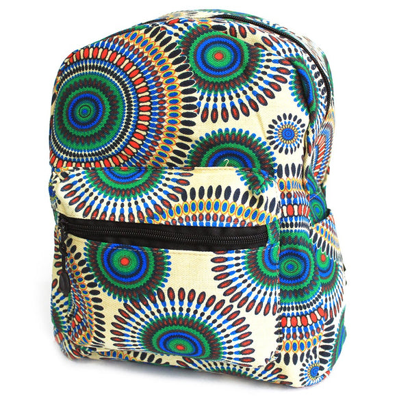 Undersized Backpack - Cream Mandala Design