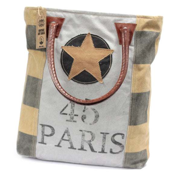 Vintage Style Bag - Paris Star