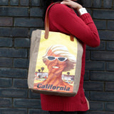 Vintage Style Travel Themed Bag - California
