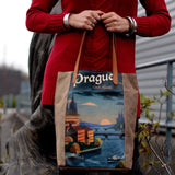 Vintage Style Travel Themed Bag- Prague