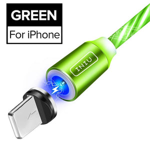 Cable Luminoso USB Magnetico para iPhone XR X 7 8 Micro Tipo C