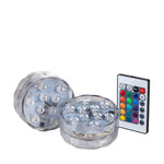 Multi-Color Remote Controlled Ten LED Submersible - Pack of 2 + Remote