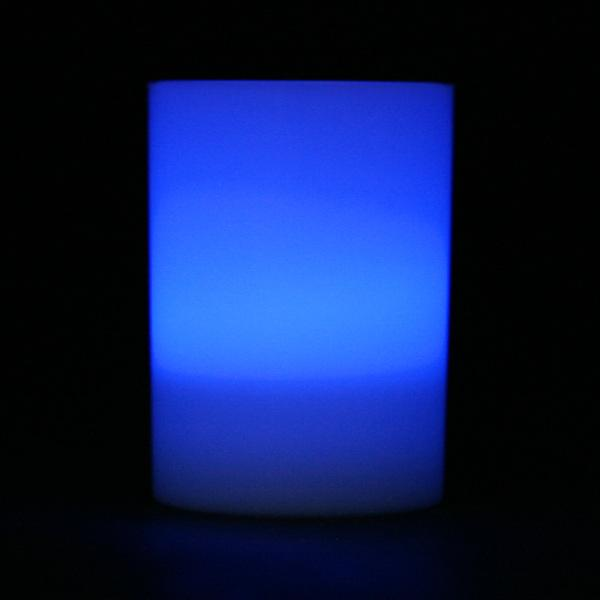 Blue LED Votive Cup, Available in Flicker/ Non-Flicker - Pack of 6 - IntelliWick