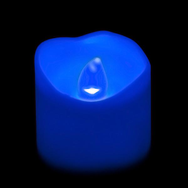 Blue LED Votive, Available in Flicker/ Non-Flicker - Pack of 12 - IntelliWick