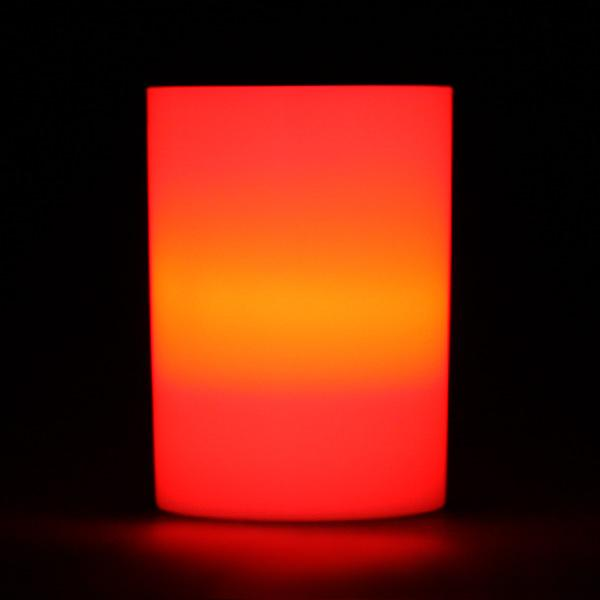 Orange LED Votive Cup, Available in Flicker/ Non-Flicker - Pack of 6 - IntelliWick