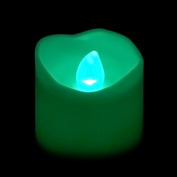 Teal LED Votive, Available in Flicker/ Non-Flicker - Pack of 12 - IntelliWick