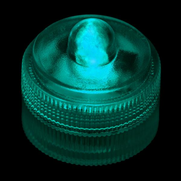 Teal Remote Controlled One LED Submersible - Pack of 10 - IntelliWick
