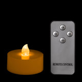 Amber Remote Controlled Tealights - Pack of 4 w/ Remote - IntelliWick