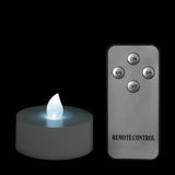 White Remote Controlled Tealights - Pack of 4 w/ Remote - IntelliWick
