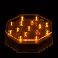 Orange LED Octagon Light Base - IntelliWick