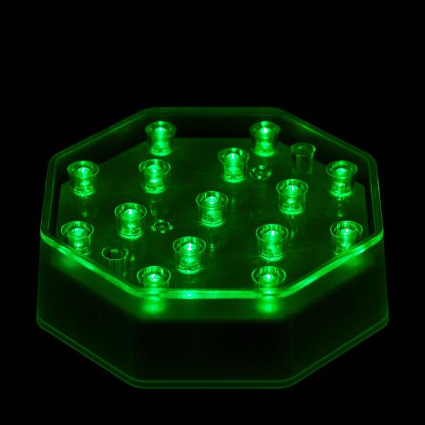 Green LED Octagon Light Base - IntelliWick