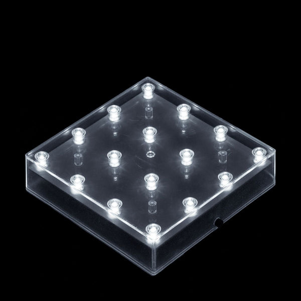 White LED Square Light Base - IntelliWick