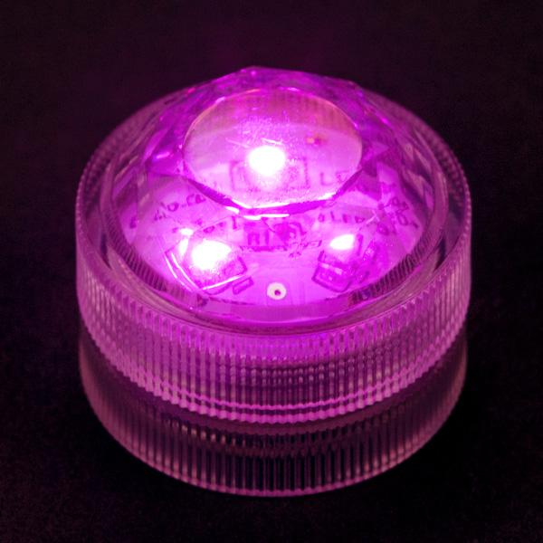 Pink Three LED Submersible - Pack of 10 - IntelliWick