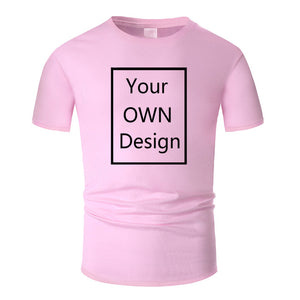 Your OWN Design Brand Logo/Picture Custom DIY Cotton T shirt  13 colors