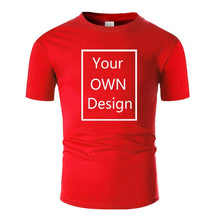 Load image into Gallery viewer, Your OWN Design Brand Logo/Picture Custom DIY Cotton T shirt  13 colors