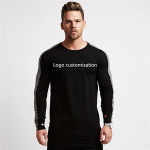 DIY Fitness Bodybuilding Cotton Long Sleeve Shirt