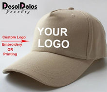 Load image into Gallery viewer, 10pcs/lot High Quality Custom Logo Caps, Women/Men Snap back Blank Customized Hats