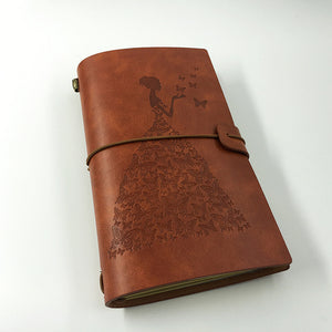 Leather Travelers Journal with Spiral Refillable Binding