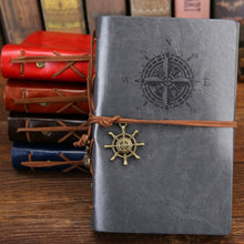 Load image into Gallery viewer, 2019 Spiral Notebook Diary Pirate Anchors PU Leather Replaceable Sheet Journal
