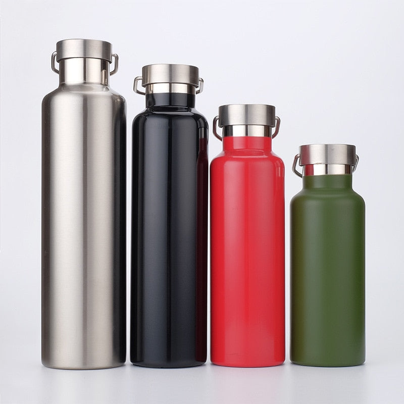350-1000ML Hot Cold Double Wall Vacuum Insulated Stainless Steel Water Bottle