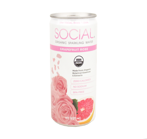 SOCIAL Sparkling Wine x Water Bundle - Grapefruit Rose