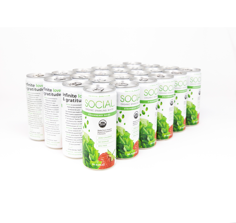 Eau pétillante Strawberry Basil 24-Pack