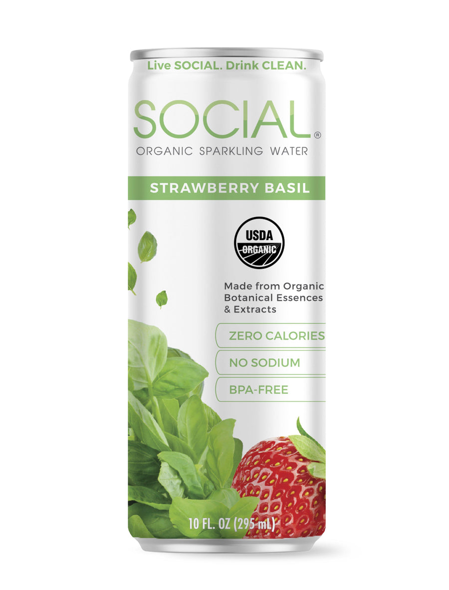 SOCIAL Sparkling Wine x Water Bundle - Strawberry Basil