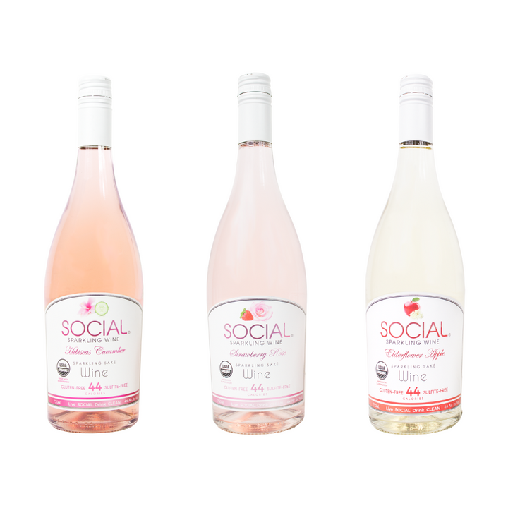 SOCIAL Sparkling Wine 750 mL Bottle Variety 6-Pack